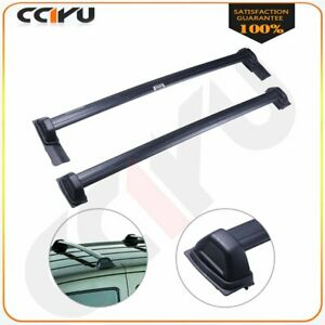 Black For Honda Element 2003 2011 Top Roof Cross Bars Bolt On To Hole Carrier