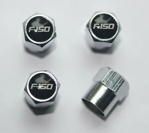 Tire Valve Stem Caps Cover F 150 Black Wheel Set Of 4 Fit All Ford