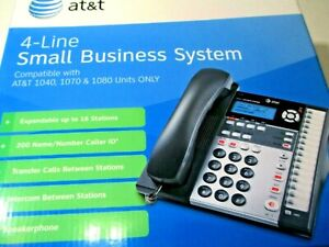 At t 1070 4 line Small Business Expandable Phone System Compatible 1040 1080 New