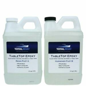 Table Top Epoxy Resin Gallon Kit Crystal Clear Coating Bars Countertops Tables