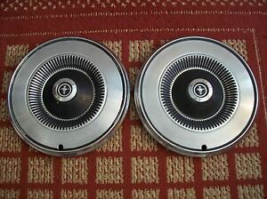 1972 1973 Ford Mustang Pair Of Two 14 Oem Hubcaps