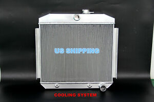 New 3 Row Aluminum Radiator Fit 1955 57 Chevy Bel Air 6cyl Core Support Cc5056