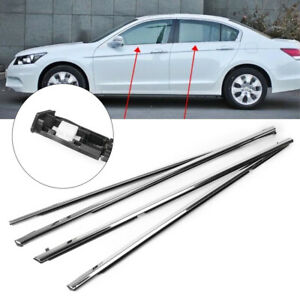 Outside Window Moulding Weatherstrips Fl Fr Rl Rr For Accord 2003 2007 4pcs Auto