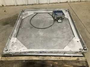 Mettler toledo 36 X 36 Floor platform Scale W Weight Indicator 10 000lb