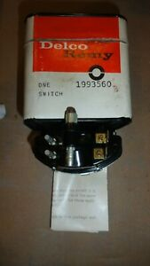 Nos 1960 1961 1962 Cadillac Neutral Safety Switch 1993560 Delco Remy