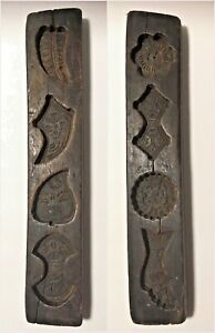 Rare Antique Primitive Two Sided Butter Maple Sugar Candy Mold Euc