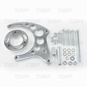 Sbc Polished Billet Aluminum Gilmer Belt Drive Lwp Alternator Bracket