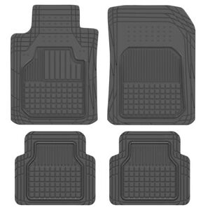 Rubber Car Floor Mats Fits Toyota Camry Motor Trend Black Odorless Protection