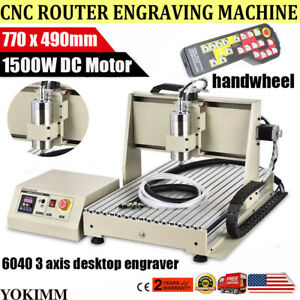 Cnc Router 3 Axis 1500w 6040 Engraver Metal Cut Drill Milling Machine handwheel
