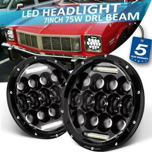 2pcs 7 inch 75w Led Headlight Hi lo Drl Projector Beam For Oldsmobile 1974 1994
