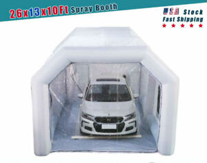 26x13x10ft Inflatable Spray Booth Car Paint Tent Inflatable Car Workstation