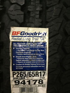 2 New 265 65 17 Bfgoodrich Radial Long Trail T A Tires