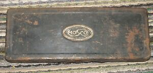 Vintage Antique Mosco Garage Tools Lamp Connectors Metal Box Watertown Mass Rare
