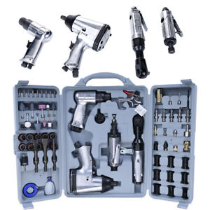 71pcs 1 2 Air Tool Air Impact Wrench And Accessories Kit With Storage Case Usa
