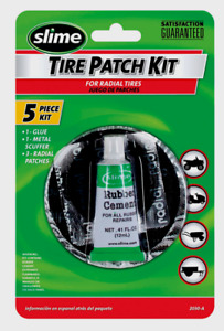 Slime Radial 5pc Tire Patch Kit Glue Scuffer Patches Tubeless Repair Atv 2030 A
