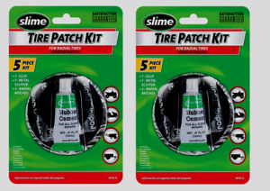2 Slime Radial 5pc Tire Patch Kit Glue Scuffer Patches Tubeless Repair Atv 2030a