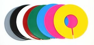 Blank Round Plastic Rack Size Dividers Variety Color Pack 1 Of Each Color