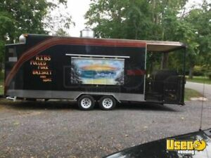 24 Bbq Concession Trailer With Porch For Sale In New York