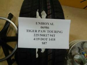 1 New Uniroyal Tiger Paw Touring 225 50 17 94t Tire Wo Label 06986 Q9