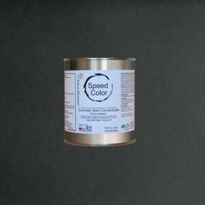 Fast Drying Concrete Paint Speed Color 24oz Concentrate Yields 1gal Pure Black