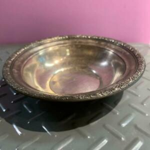 Vintage Alvin Sterling Silver Embossed Edge Bowl Candy Dish 5 5 6 S108