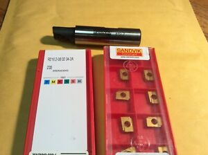 Sandvik R216 2 313 Indexable End Mill Cutter 13mm 1 2 Dia W 20 Inserts Nos
