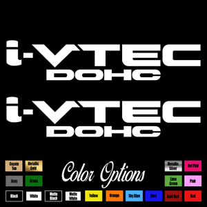 2 x I vtec Dohc Ivtec 9 Emblem Vinyl Sticker Honda Civic Decal Drift Jdm 108