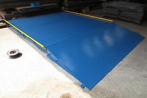10x10 Truck Axle Scale 60 000 Lb With Two Ramps Side Rail Printer Indicator