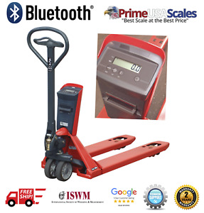 Bluetooth 4 0 Pallet Jack Scale 5 000 Lb 48 X 27 Works With Ios Android App