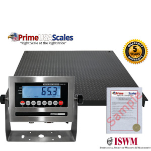 New Industrial 48 X 48 Floor Scale Pallet Size Ss Indicator 5 000 X 1 Lb