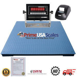 48 X 48 Floor Scale With Thermal Printer 10 000 Lb X 1 Lb 4x4 Pallet Scale