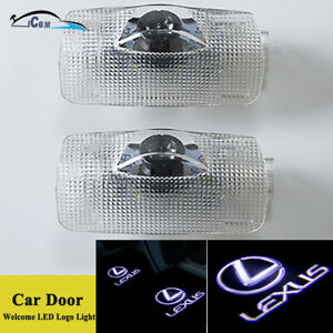 Hnzj 2x Led Car Door Logo Courtesy Shadow Projector Lights For Lexus Es350 2019