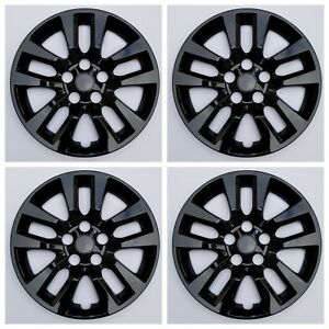 New Wheel Covers Hubcaps Fits 2013 2018 Nissan Altima 16 Black Bolt On Set Of 4