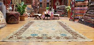 Beautiful Antique Cr1900 1939 S Muted Natural Dye Oushak Area Rug 5 3 X8 5