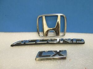 94 95 96 97 Honda Accord Lx Rear Trunk Emblem Badge Symbol Logo Sign Set Oem 95