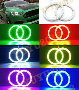 Rf Rgb Halo Rings For Ford Fusion 13 2016 Car Headlight Led Light Angel Eye Lamp