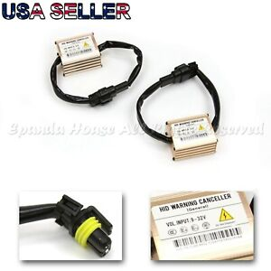 2x Hid Warning Cancellers Load Resistor Canbus Decoders Eliminates Flicker Issue