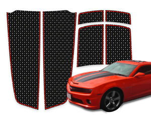 Camaro Racing Stripes Hood Trunk Spoiler Skulls On Black W red 2010 2015
