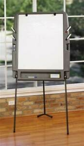 Portable Flipchart Easel In Charcoal W Dry Erase Surface id 44065
