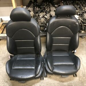 2001 2006 Bmw E46 M3 Coupe Original Black Interior Front Seats Only