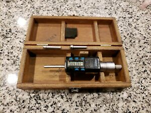 Mitutoyo 468 Digimatic Holtest Lcd Inside Micrometer Three point W Extra Tips