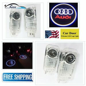 Hnzj 2x Led Car Door Courtesy Projector Logo Shadow Lights For Audi A6 A7 A8 Q5