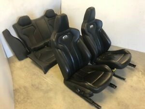 15 16 17 18 Bmw F80 F82 M4 Oem Black Leather Front Rear Seats Complete