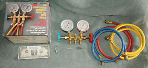 Nice Air Conditioner Manifold Gauge Set Kit Ac Refill R12 R22 R502 Hvac R134a