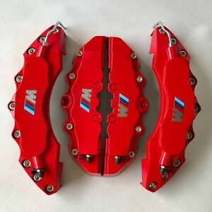 M Power Engineering Plastic Red Brake Caliper Covers 11 F 9 R For Bmw 3