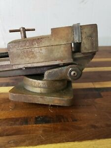 4 1 2 Machinist Vise With Swivel Base And Handle Kurt Wilton Tilt Angle Rare