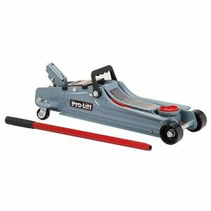 Pro Lift Low Profile Floor Jack 2 Ton Capacity Heavy Duty Steel Construction
