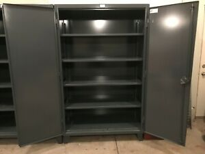 Strong Hold Model 46 244 12 Ga Steel Storage Cabinet Excellent Used Condition