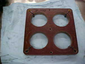 Holley Dominator 4500 Series Carburetor Carb Phenolic Spacer 1 2 Thick 1250 1400