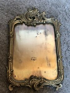 Antique Victorian Brass Glass Picture Frame